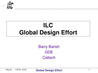 ILC  Global Design Effort