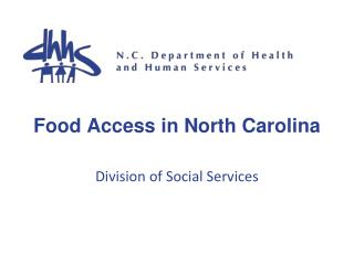 Food Access in North Carolina