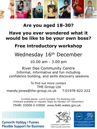 Are you aged 18-30? Have you ever wondered what it would be like to be your own boss?