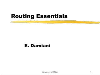 Routing Essentials