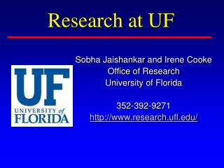 Research at UF