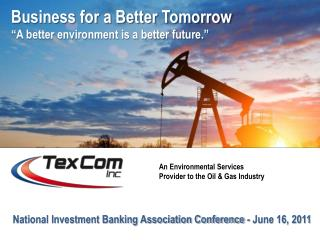 National Investment Banking Association Conference  -  June 16,  2011