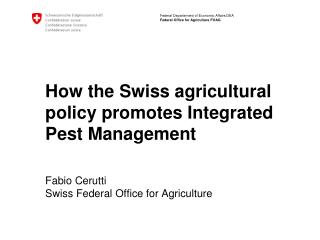 Integrated Plant Production  is the basis for  Integrated Plant Management