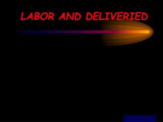 LABOR AND DELIVERIED
