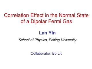 Correlation Effect in the Normal State of a Dipolar Fermi Gas