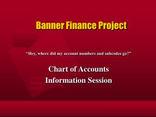 Banner Finance Project