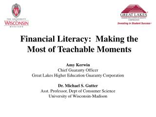 Financial Literacy:  Making the Most of Teachable Moments