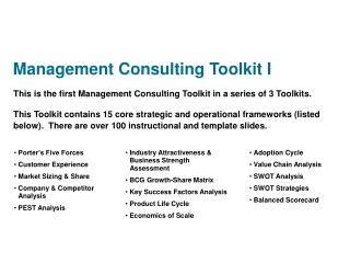 Management Consulting Toolkit I