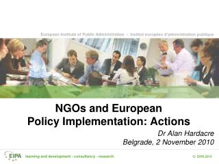 NGOs and European Policy Implementation: Actions