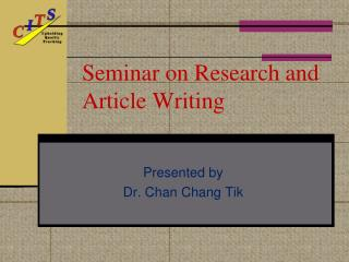 Seminar on Research and Article Writing