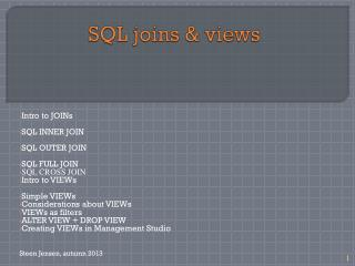 SQL joins & views