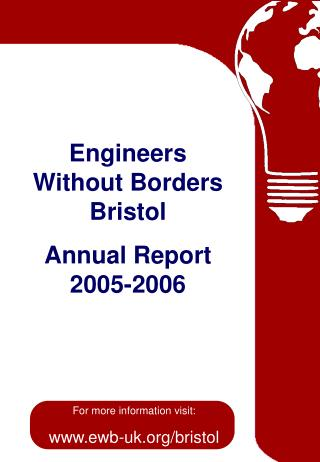 Engineers Without Borders Bristol Annual Report 2005-2006