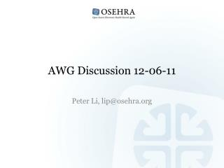 AWG Discussion 12-06-11