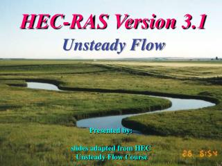 HEC-RAS Version 3.1 Unsteady Flow