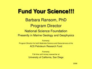 Fund Your Science!!!