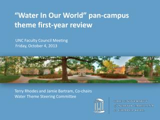 UNC Faculty Council Meeting Friday ,  October 4, 2013