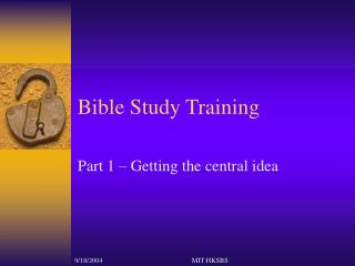 Bible Study Training