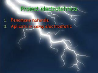 Proiect electrotehnica