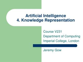 Artificial Intelligence  4. Knowledge Representation