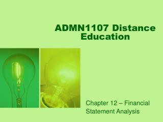 ADMN1107 Distance Education