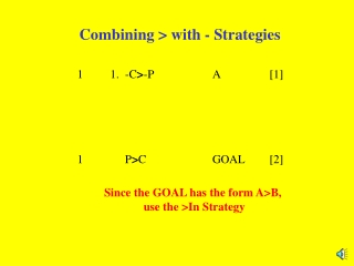 Combining > with - Strategies