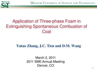 Application of Three-phase Foam in Extinguishing Spontaneous Combustion of Coal