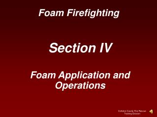 Foam Firefighting