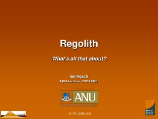 Regolith What's all that about?