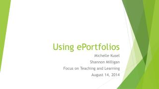 Using  ePortfolios