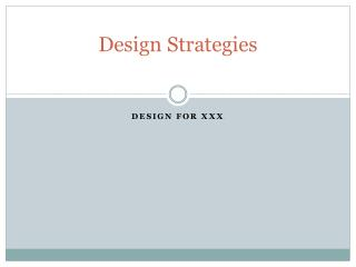 Design Strategies
