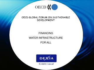 OECD GLOBAL FORUM ON SUSTAINABLE DEVELOPMENT FINANCING  WATER INFRASTRUCTURE  FOR ALL