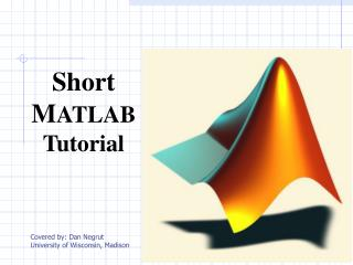 Short M ATLAB Tutorial