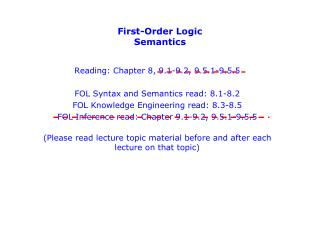 First-Order Logic Semantics