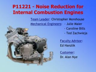 P11221 - Noise Reduction for Internal Combustion Engines