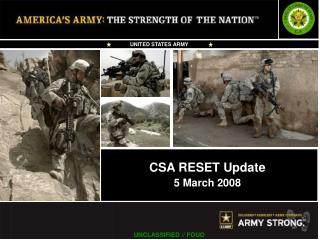CSA RESET Update 5 March 2008