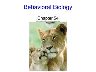 Behavioral Biology Chapter 54