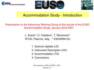 Accommodation Study - Introduction