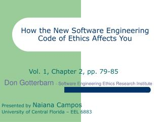 How the New Software Engineering Code of Ethics Affects You