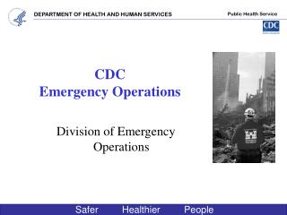 CDC  Emergency Operations