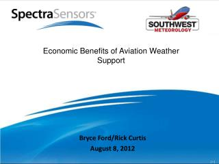 Economic Benefits of Aviation Weather Support