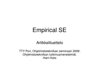 Empirical SE