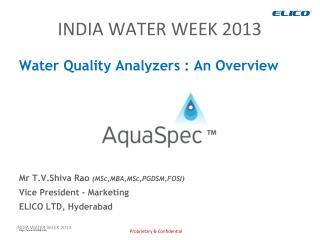 INDIA WATER WEEK 2013