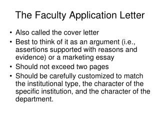 Faculty Application Cover Letter from thumbs.slideserve.com