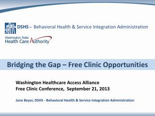 Bridging the Gap – Free Clinic Opportunities