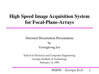 High Speed Image Acquisition System for Focal-Plane-Arrays