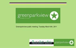 Greenparkview public meeting, Tuesday March 8th, 2011