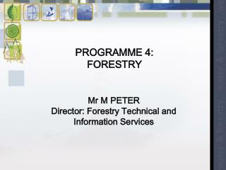 PROGRAMME 4:  FORESTRY