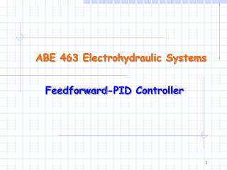 ABE 463 Electrohydraulic Systems
