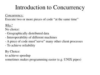 Introduction to Concurrency