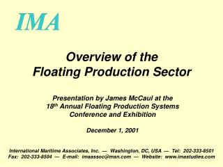 Overview of the Floating Production Sector